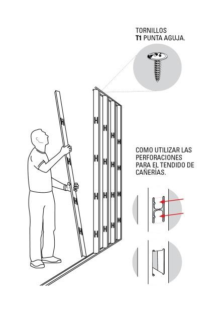 Armado pared Drywall paso 4