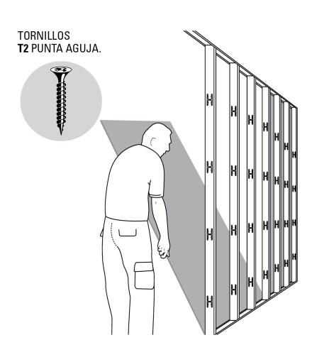 Armado pared Drywall paso 5